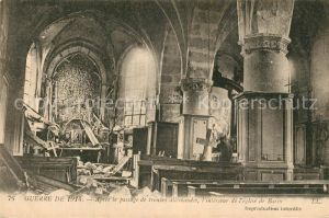 Barcy Interieur de l eglise Ruines Grande Guerre Truemmer 1. Weltkrieg Barcy