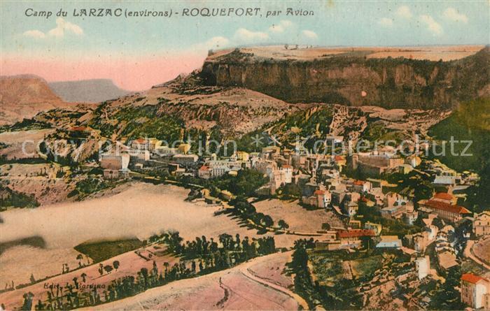 Roquefort sur Soulzon Camp du Larzac vue aerienne Roquefort sur Soulzon