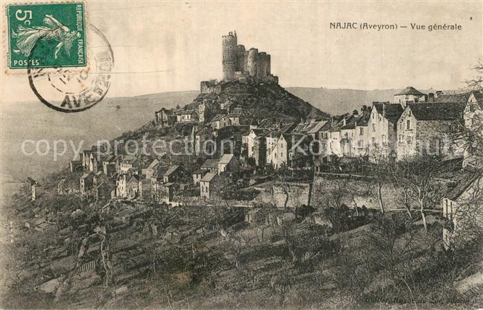 Najac Vue generale et le Chateau Najac