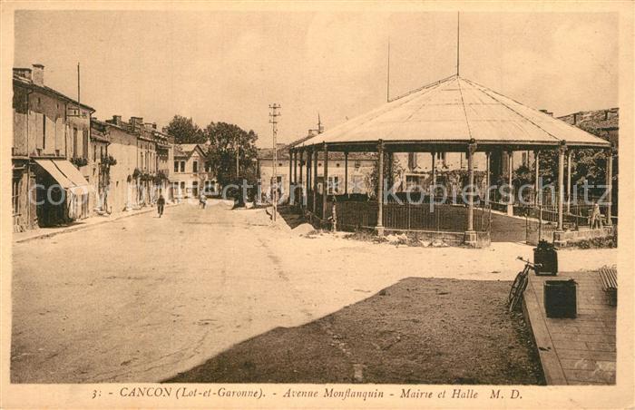 Cancon Avenue Monflanquin Mairie et Halle Cancon