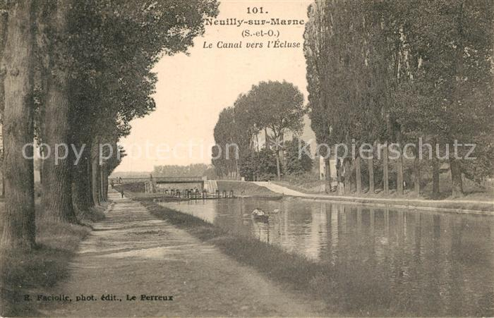Neuilly sur Marne Canal vers l Ecluse Neuilly sur Marne