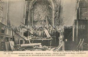 Barcy Eglise Bataille de la Marne Grande Guerre Truemmer 1. Weltkrieg Barcy