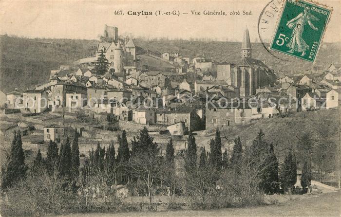Caylus Vue generale Eglise Chateau Caylus