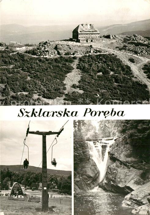Szklarska_Poreba Schronisko PTTK na Szrenicy Stacja vyciqgu krzeselkowego na Szrenice Wodospad Szkarki Szklarska_Poreba