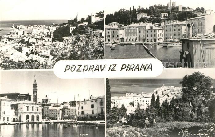 Piran Panorama Teilansichten Piran