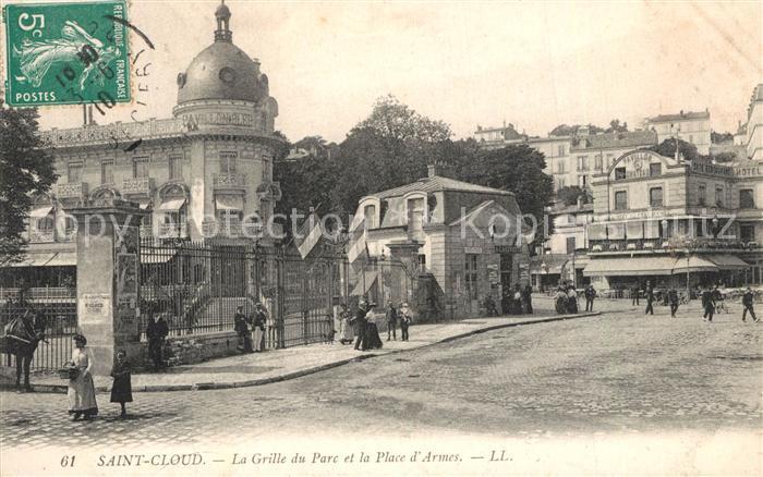 Saint Cloud_Hauts de Seine La Grille du Parc et Place d Armes Saint Cloud