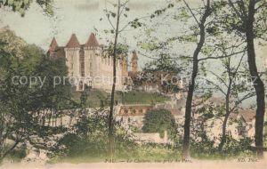 Pau Chateau vue prise du parc Pau