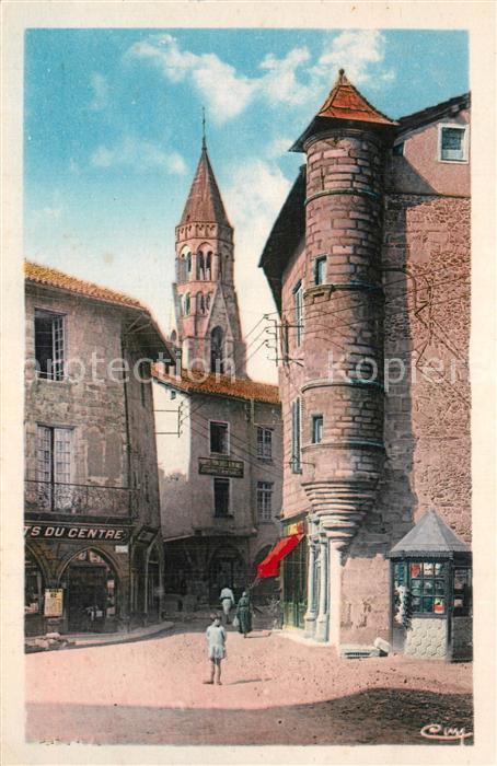 Saint Leonard de Noblat Vieilles maisons Tour historique XVIe siecle Saint Leonard de Noblat