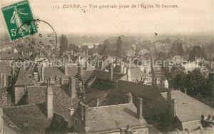 Cosne Cours sur Loire Vue generale prise de l Eglise Saint Jacques Cosne Cours sur Loire