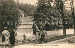 Semur en Auxois Les cascades pres Lac de Pont Semur en Auxois