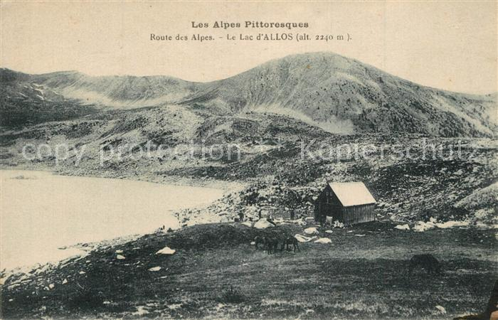 Lac_d_Allos Route des Alpes Chalet Collection Les Alpes Pittoresques Lac_d_Allos