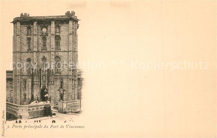 Vincennes Porte principale du Fort Vincennes