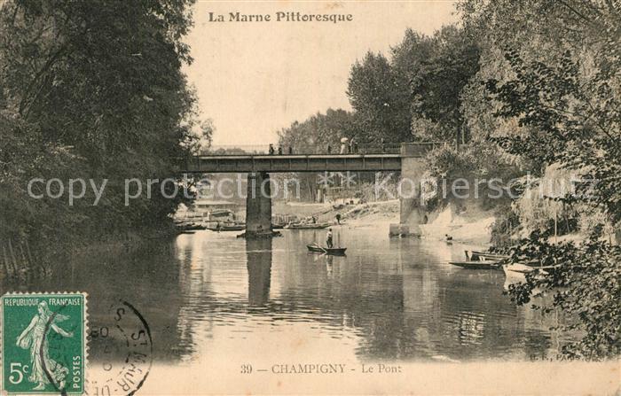 Champigny sur Marne Le Pont sur la riviere Champigny sur Marne