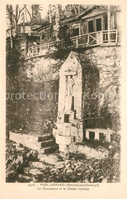 Vieil_Armand_Hartmannswillerkopf Monument et le Chalet Cantine Vieil_Armand