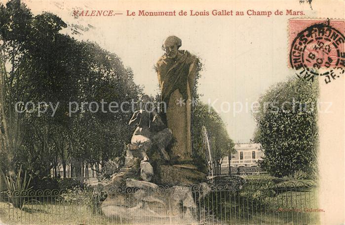Valence_Tarn et Garonne Monument de Louis Gallet au Champ de Mars Valence_Tarn et Garonne