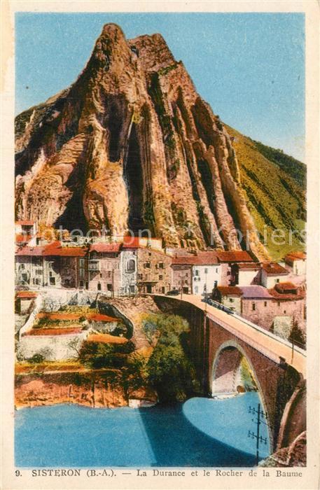Sisteron La Durance et le Rocher de la Baume Sisteron
