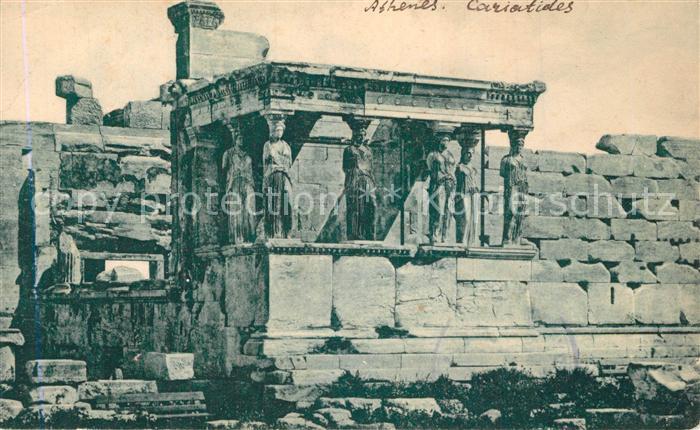 Athenes_Athen Les Caryatides Acropole Tempel Akropolis Athenes Athen