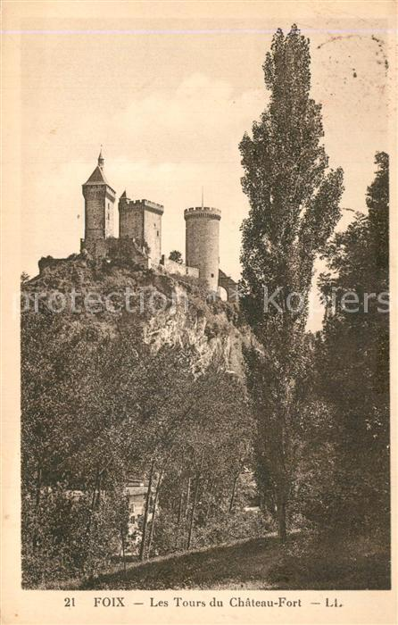 Foix Les Tours du Chateau Fort Foix