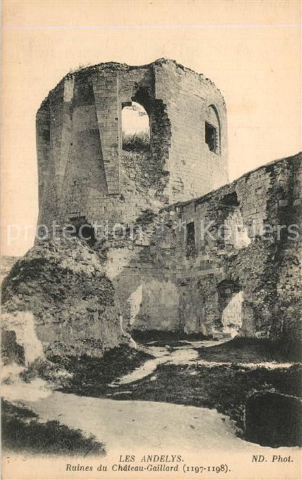 Les_Andelys Ruines du Chateau Gaillard Les_Andelys