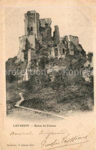Lavardin_Loir et Cher Ruines du Chateau Lavardin Loir et Cher