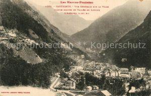 Cauterets Vue generale Vallee de Lutour Montagnes Pyrenees Cauterets
