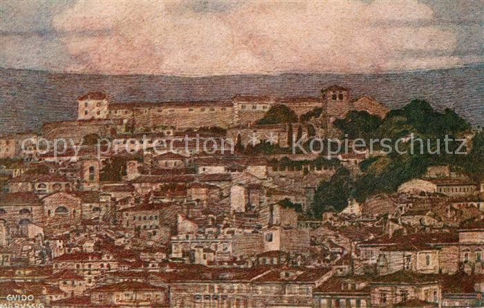 Trieste Colle di San Giusto Castello Kuenstlerkarte Trieste