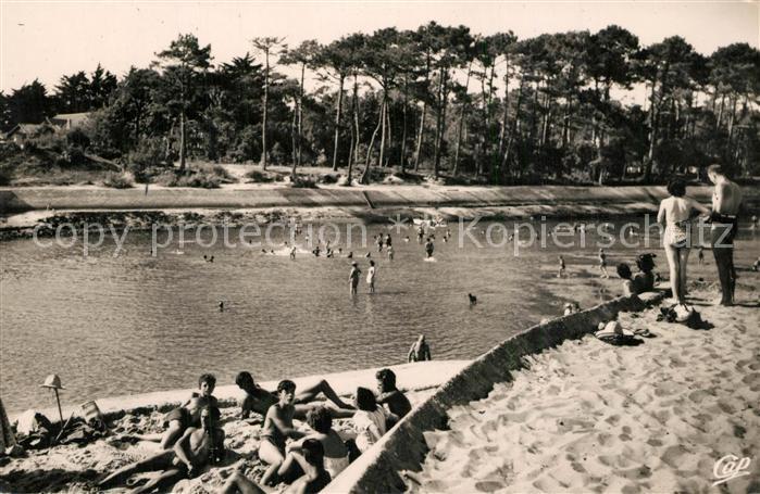 Hossegor_Soorts_Landes Entree du Lac d'Hossegor a maree basse Hossegor_Soorts_Landes
