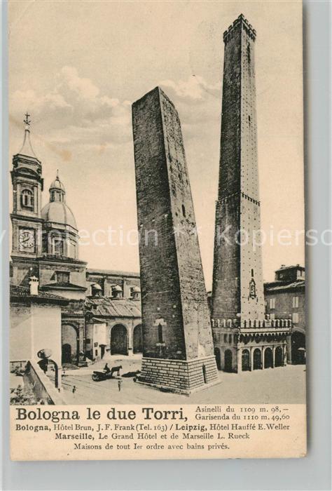Bologna Due Torri Asinelli e Garisenda  Bologna