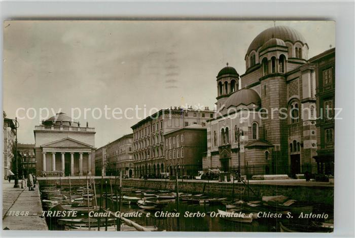 Trieste Canal Grande Chiesa Serbo Orientale Chiesa S. Antonio Trieste