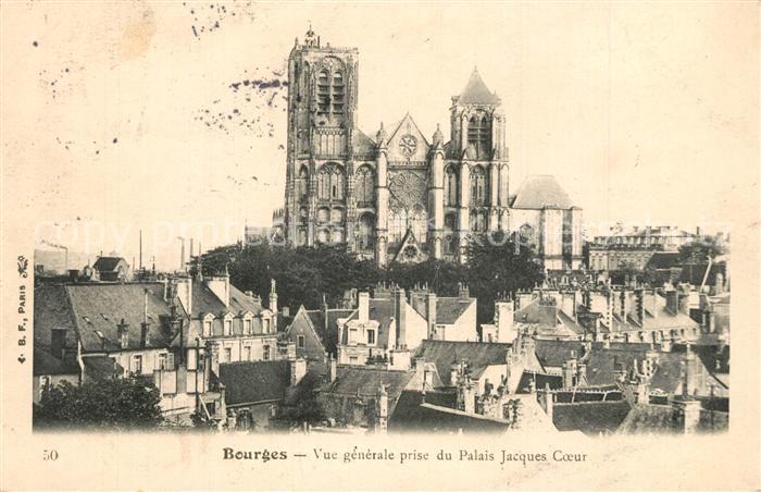 Bourges Vue generale prise du Palais Jacques Coeur Cathedrale Bourges