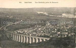 Saint Satur Vue generale prise de Sancerre Viaduc Saint Satur