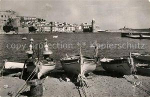 Collioure Le port bateaux de peche Collioure