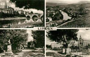 Limoux Pont Neuf Eglise les Trois Ponts Ile de Sournies Institution Agricole Saint Joseph Limoux