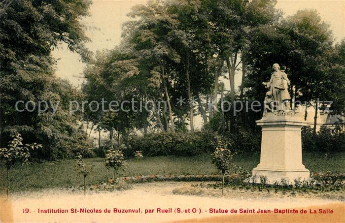 Rueil Malmaison Statue de Saint Jean Baptiste de la Salle Rueil Malmaison