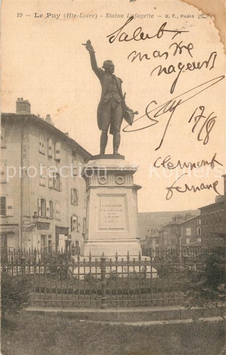 Le_Puy en Velay Statue Lafayette Le_Puy en Velay