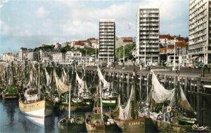 Boulogne sur Mer Le Quai Gambetta La Flotille Boulogne sur Mer