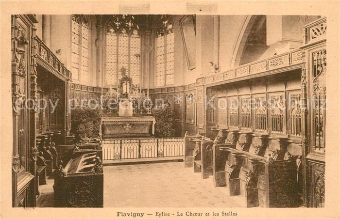 Flavigny_Cher Eglise Le Choeur et les Stalles Flavigny_Cher