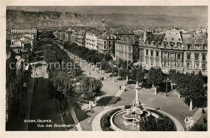 Valence_Drome Vue des Boulevards Valence_Drome