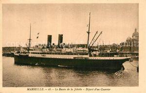 Dampfer_Oceanliner Courrier Marseille Bassin de la Joliette