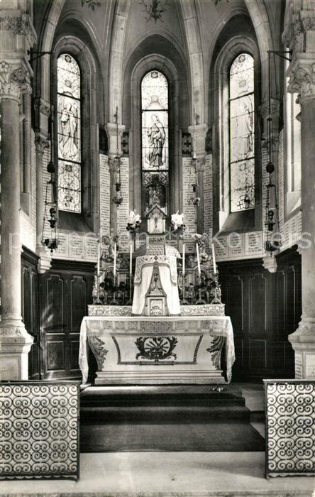 Vion_Sarthe Basilique Notre Dame du Chene interieur de la chapelle Vion Sarthe