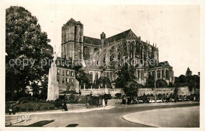 Le_Mans_Sarthe Place des Jacobins Cathedrale Le_Mans_Sarthe
