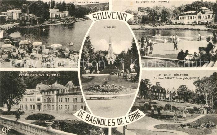 Bagnoles de l_Orne Lac Casino Etablissement Thermal Golf Miniature Eglise Bagnoles de l_Orne