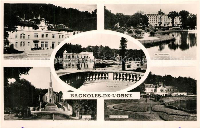 Bagnoles de l_Orne Etablissement Thermal Casino du Lac Grand Hotel Eglise Bagnoles de l_Orne