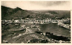 Port Vendres Panorama de la Rade vers Collioure et Argeles Port Vendres