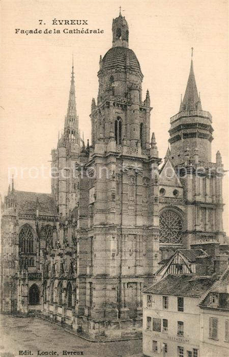 Evreux Facade de la Cathedrale Evreux
