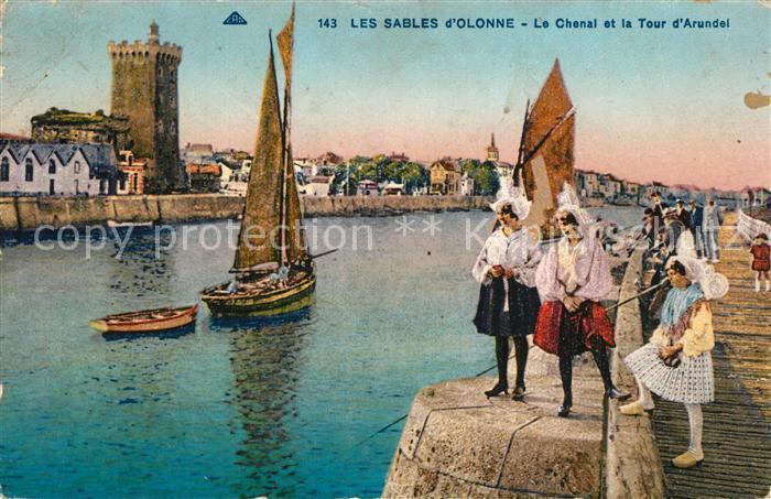 Les_Sables d_Olonne Le Chanal et Tour d`Arundel Les_Sables d_Olonne