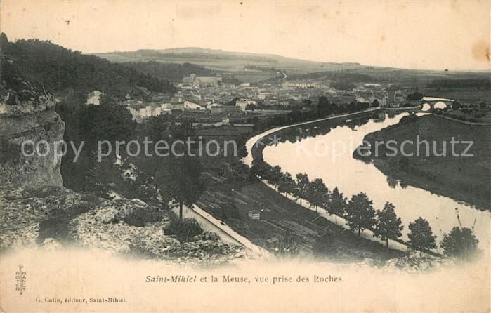 Saint Mihiel et la Meuse vue prise des Roches Saint Mihiel