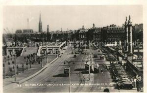 Bordeaux Les Quais Louis XVIII de la Bourse de la Douane Bordeaux