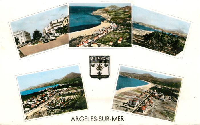 Argeles sur Mer Vues d ensemble Plage vue aerienne Argeles sur Mer