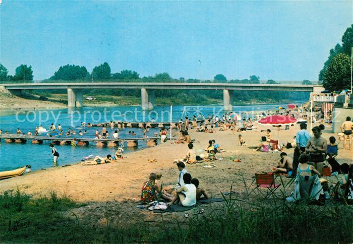 Chabris La plage et le pont sur le Cher Chabris